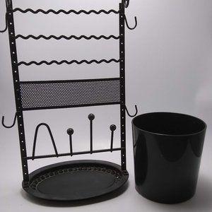 black Jewelry holders metal and plastic